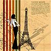 Retro-Hintergrund mit Eiffelturm