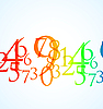 Farbnummern und Ziffern | Stock Vektrografik