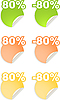 Naklejki z 80 procent zniżki | Stock Vector Graphics