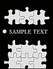 Puzzle auf Schwarz | Stock Vektrografik