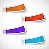 Set von farbigen Aufklebern | Stock Vektrografik