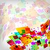 abstrakter quadratischer bunter Hintergrund