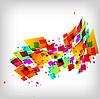 抽象的方形彩色背景 | 向量插图