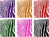 Vektor Cliparts: Farbe Zebrafell Set