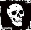 Гранж череп | Векторный клипарт