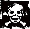 Grunge czaszki | Stock Vector Graphics