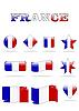 Vektor Cliparts: Frankreich-Flaggen-Taste
