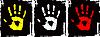 Vektor Cliparts: Grunge Farbe Hand Set