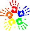 Vektor Cliparts: Farbige Hand