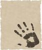 Vektor Cliparts: grunge Hand