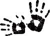 Vektor Cliparts: schwarzes Handabdruck