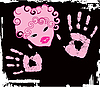 Vektor Cliparts: abstrakte rosa Mädchen