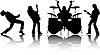 Силуэты музыкантов | Векторный клипарт