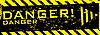 Grunge-Banner über Gefahr