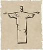 Iesus Christus das Rio de Janeiro Statue Silhouette