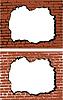 砖墙与孔 | 向量插图