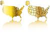 Gold-Karten von USA - Set