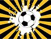 Die Grunge-Hintergrund mit Fußball