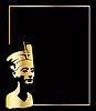 das Gold Kopf der Nofretete