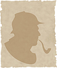 Векторный клипарт: курильщик силуэт труба