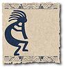 Zeichnung von Maya und Inka auf altem Papier