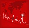 ID 3341332 | Kardiogramm auf rotem Hintergrund | Stock Vektorgrafik | CLIPARTO