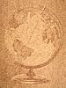ID 3054313 | Globus auf altem Papierblatt | Illustration mit hoher Auflösung | CLIPARTO