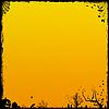 노란색 할로윈 배경 | Stock Illustration
