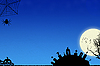 Niebieskie Tło Halloween | Stock Illustration
