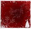 Christmas czerwonym tle | Stock Illustration