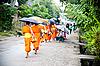 ID 3056408 | Buddhistische Novizen gehen die Opfer zu sammeln | Foto mit hoher Auflösung | CLIPARTO