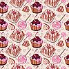 Słodki wzór z ciasta | Stock Vector Graphics