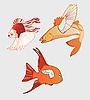 fantastische Fische mit Flügeln
