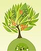 树与鸟 | 向量插图