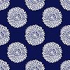 ID 3041776 | 간단한 블루 플라워 패턴 | 벡터 클립 아트 | CLIPARTO