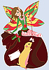 Funny Christmas Fairy | Stock Vector Graphics