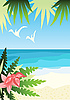 ID 3066413 | Tropischer Strand | Stock Vektorgrafik | CLIPARTO