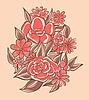 ID 3072204 | Rote Blumen | Stock Vektorgrafik | CLIPARTO