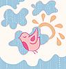 小甜飞鸟 | 向量插图