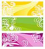 ID 3099179 | Helle Werbebanner mit floralen Elementen | Stock Vektorgrafik | CLIPARTO