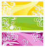 Jasne transparenty z elementami kwiatów | Stock Vector Graphics