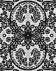 Schöne florale Spitze mit kreisförmigen Elementen