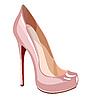 Eleganter rosa Schuh