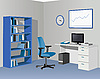 Vector clipart: Cabinet office in blue colors