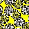 nahtloser Hintergrund mit Zitronenscheiben