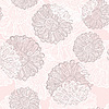 nahtloses Muster mit abstrakten Blumen
