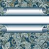 Nahtloser Paisley-Hintergrund mit Rahmen | Stock Vektrografik