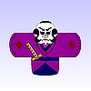 japanischer Samurai mit einem Schwert