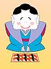 japanische Geisha mit Sushi