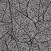 Nahtloser monochromer Hintergrund von Blättern | Stock Vektrografik